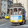 Classic yellow tram of Lisbon, Portugal — Stock Photo #30519345