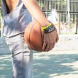 Young man playing basketball — Stock Photo #35174919