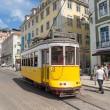 Classic yellow tram of Lisbon, Portugal — Stock Photo