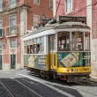 Classic yellow tram of Lisbon, Portugal — Stock Photo #36758181