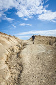 Man in the desert of Bardenas — Stock Photo