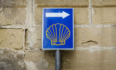 Sign of Camino de Santiago, Spain — Zdjęcie stockowe