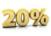 Twenty percent gold — Stock Photo