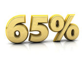 Sixty five gold percent — Stock Photo