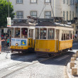 Classic yellow tram of Lisbon, Portugal — Stock Photo #38201339