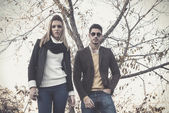 Fashion young couple  — Stock Photo