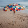 Stock Photo: Umbrellon beach