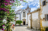 Church in Obidos, Portugal  — 图库照片