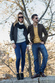 Fashion young couple in love  — Stock Photo