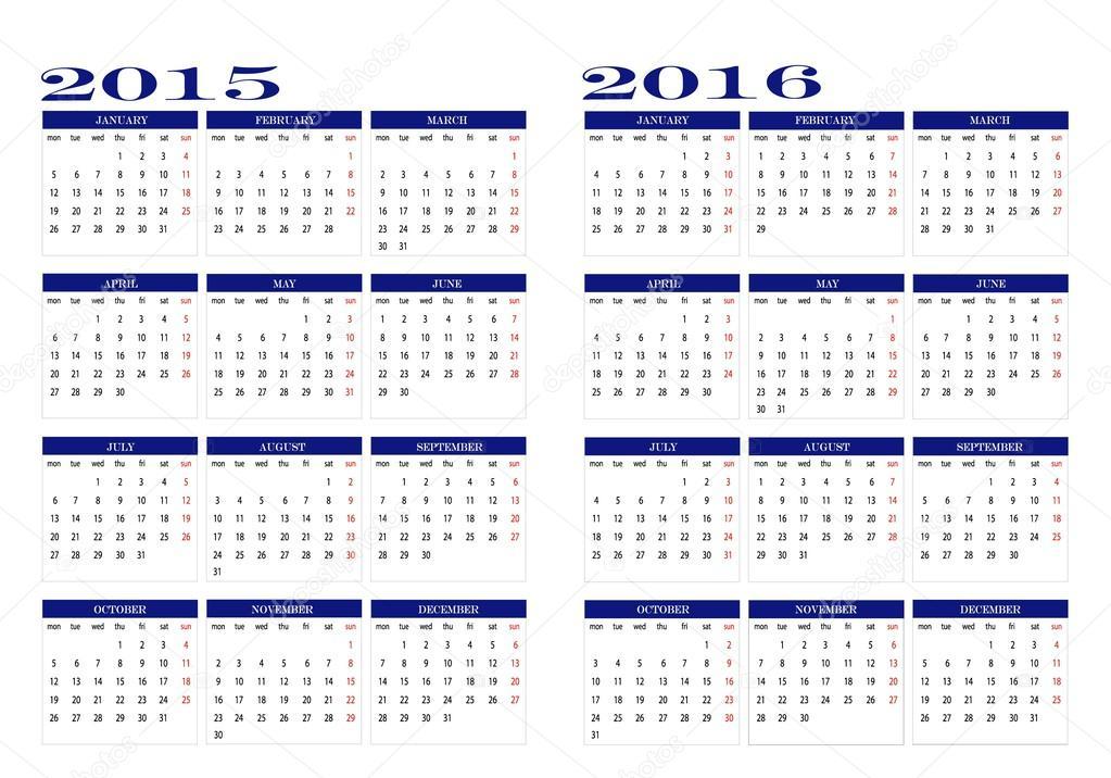 ID:65537389 Название:Calendar 2015 and 2016 Автор:Maria Vazquez Тип медиа:translation missing: en.vector Разрешение...