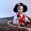 Cute little boy in the pirate costume — Stock Photo #12357435