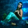 Beautiful mermaid girl - Foto Stock