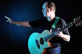 Man met de gitaar — Stockfoto