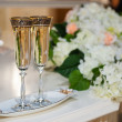 Champagne on the wedding — Stock Photo