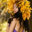 Autumn girl — Stock Photo