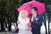 Зимняя свадьба — Стоковое фото