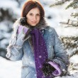 Stock Photo: Pretty girl in winter park