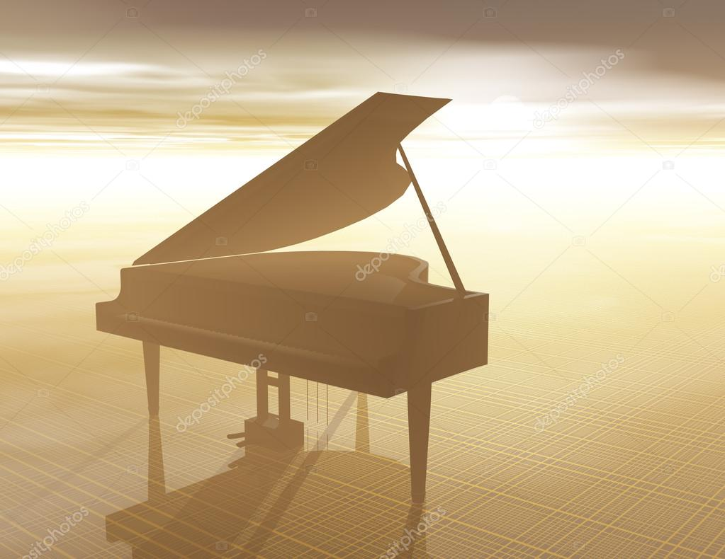 Piano Sunset — Stock Photo #13416890