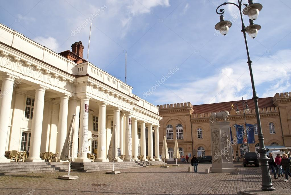 Town house of Schwerin, Germany  Stock Photo #14077703