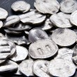 Shredded German Mark Coins - Stock Photo