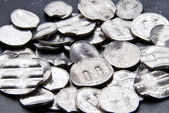 Shredded German Mark Coins — Stock Photo