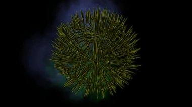 Unfolding Sphere — Stock Video