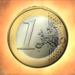 Stock Video: Euro coin