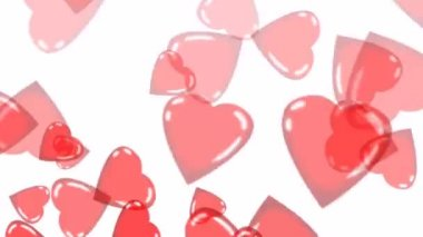 Valentine Hearts are flying — Stock Video