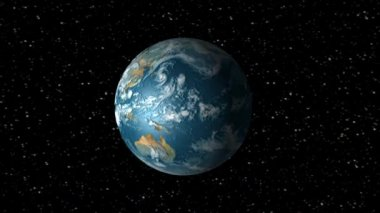 Earth Rotation Animation — Stock Video