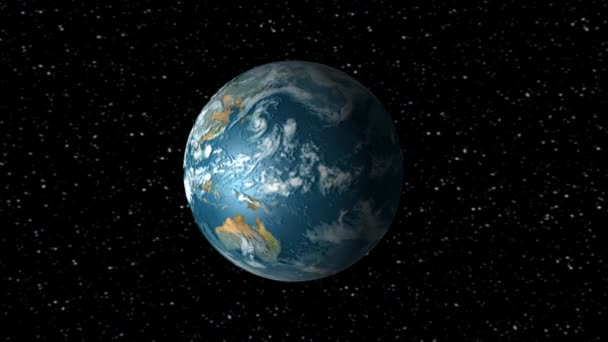 Animation de rotation de la terre — Vidéo