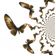 Kaleidoscopic Butterflies Illustration — Foto Stock