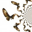 Kaleidoscopic Butterflies Illustration — Foto de Stock