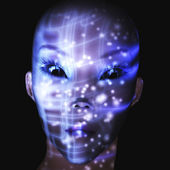 Digital Alien Visualization — Stockfoto