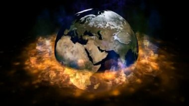 анимации вращение земли — Стоковое видео