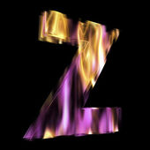 Flaming lettre 3d — Photo