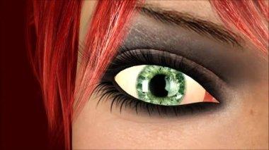 Blinking Eye Animation — Stock Video