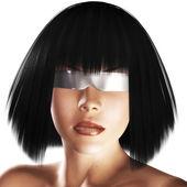 Digital Girls Face — Stock Photo
