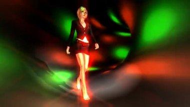 Walking Girl Animation — Vidéo