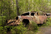 Car Dump in Kirkoe Mosse — Stock Photo