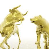 Bull en bear — Stockfoto
