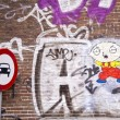 Graffiti in amsterdam — Stock Photo