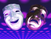 Teater masker — Stockfoto