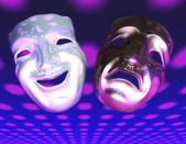 Tiyatro maskeleri — Stok fotoğraf