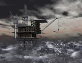 нефтяная вышка — Стоковое фото