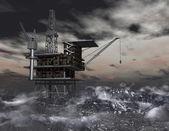 石油掘削装置 — ストック写真