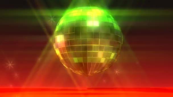 Bola de discoteca animación — Vídeo de stock