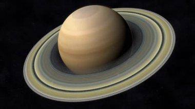 土星のアニメーション — ストックビデオ