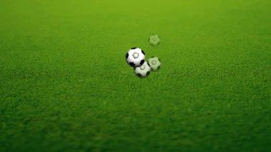 Pallone da calcio animato — Video Stock