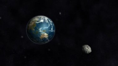 Asteroid Collision Animation — Stock Video