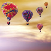 Hot Air Balloons — Stock fotografie